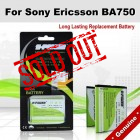 Premium Long Lasting Battery For Sony Ericsson BA750 Battery
