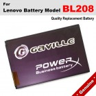 Premium Gaville Business Battery For Lenovo BL208 BL-208 Battery