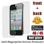 Premium Antiglare iPhone 4 4S Screen Protector Front and Back