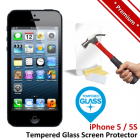 Premium Apple iPhone 5 5S Tempered Glass Screen Protector