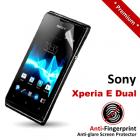 Premium Matte Anti-Fingerprint Sony Xperia E Dual Screen Protector